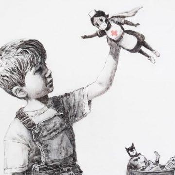 Το νέο έργο του Banksy: Ένα αγόρι επιλέγει μια νοσηλεύτρια ως τον αγαπημένο του σούπερ ήρωα